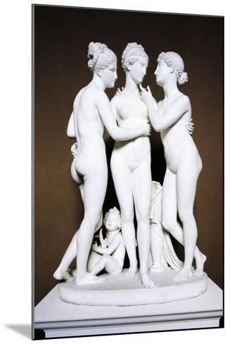 Three Graces by Bertel Thorvaldsen, Copenhagen, Denmark--Mounted Giclee Print