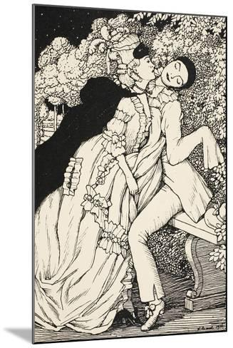 Pierrot Et La Marquise, 1918--Mounted Giclee Print