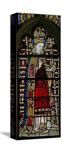 """Window Ew Depicting St Thomas Becket with """"Jewels"""" of Inset Glass--Stretched Canvas Print"""