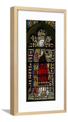 """Window Ew Depicting St Thomas Becket with """"Jewels"""" of Inset Glass--Framed Art Print"""