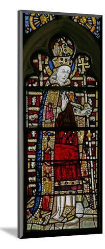 """Window Ew Depicting St Thomas Becket with """"Jewels"""" of Inset Glass--Mounted Giclee Print"""