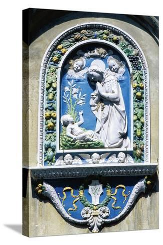 Madonna and Child, Painted Majolica, Asolo, Veneto, Italy--Stretched Canvas Print