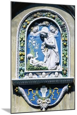 Madonna and Child, Painted Majolica, Asolo, Veneto, Italy--Mounted Giclee Print