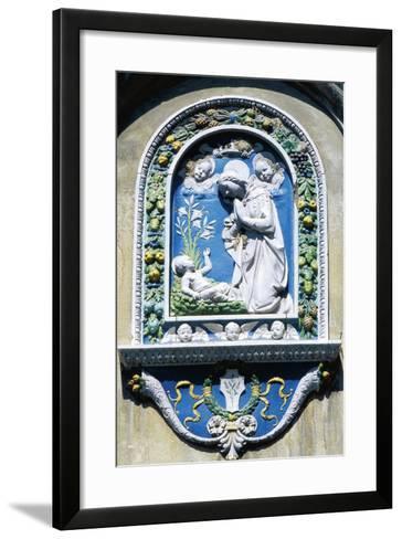 Madonna and Child, Painted Majolica, Asolo, Veneto, Italy--Framed Art Print
