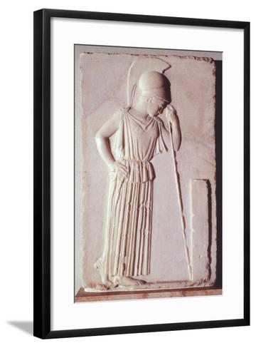 Melancholic Athena, Ca 450 BC, Relief, Greece--Framed Art Print