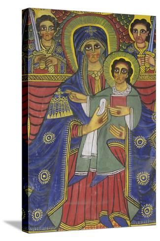 Ethiopia, Tigrai, Aksum, Painting in Monastery of Abba Pantelewon, from 6th Century--Stretched Canvas Print