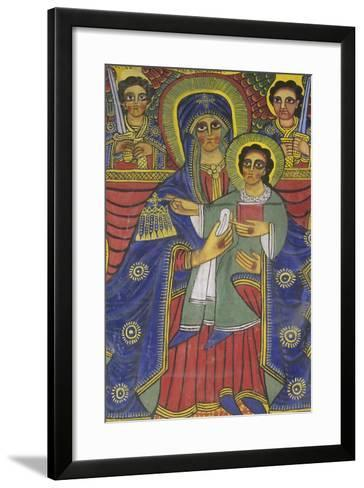 Ethiopia, Tigrai, Aksum, Painting in Monastery of Abba Pantelewon, from 6th Century--Framed Art Print