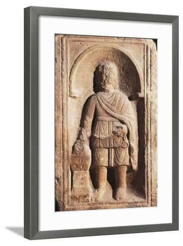 Muzio Scaevola with His Hand Alight, Artifact Uncovered in Intercisa the Ancient Centre of Hungary--Framed Art Print