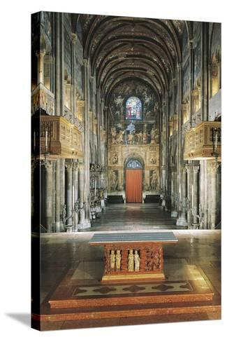 Central Aisle, Cathedral of Santa Maria Assunta, Parma, Emilia-Romagna, Italy, 11th-12th Century--Stretched Canvas Print