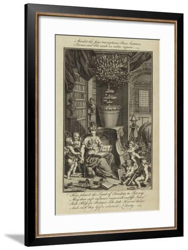 Admist the Joys Triumphant Peace Bestows, Science and Art Exult in Calm Repose--Framed Art Print