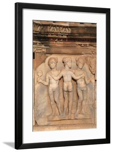 Close-Up of the Decorative Stage Relief of the Theatre of Sabratha, Libya, Tripolitania--Framed Art Print