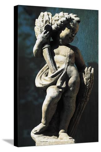 Statue of Putto, Spa Town Terme Di Fiuggi, Lazio, Italy--Stretched Canvas Print