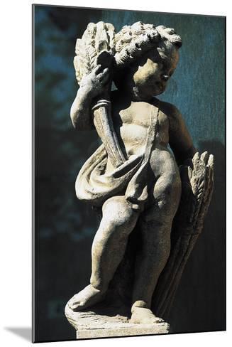 Statue of Putto, Spa Town Terme Di Fiuggi, Lazio, Italy--Mounted Giclee Print
