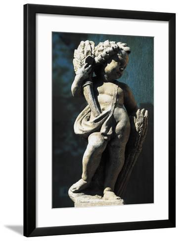 Statue of Putto, Spa Town Terme Di Fiuggi, Lazio, Italy--Framed Art Print