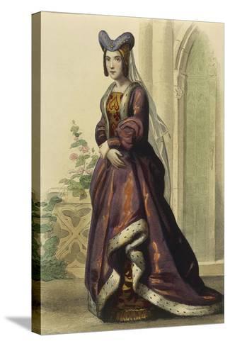 France, Paris, Portrait of Anne of France--Stretched Canvas Print