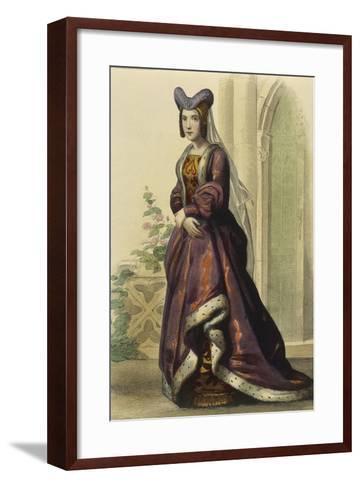 France, Paris, Portrait of Anne of France--Framed Art Print