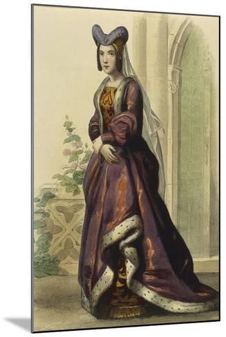 France, Paris, Portrait of Anne of France--Mounted Giclee Print