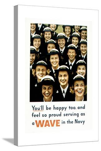 You'Ll Be Happy Too, 1943--Stretched Canvas Print