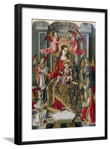 Madonna Enthroned, Detail from Saint Peter's Altarpiece--Framed Art Print