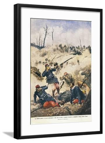 Battle of Ypres, Effects of Poison Gases, 1915--Framed Art Print