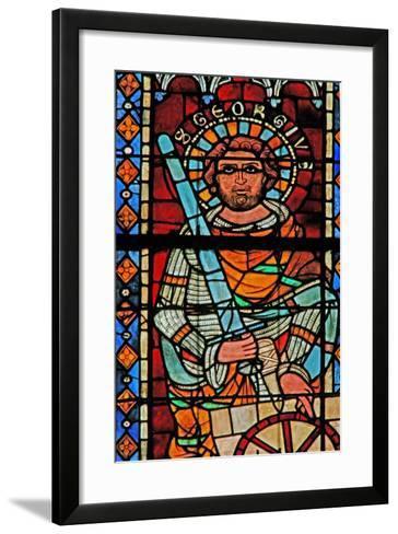 Window W203 Depicting St George--Framed Art Print