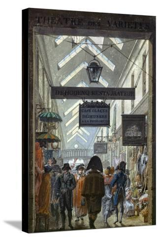Scene of Everyday Life in Paris, 1810--Stretched Canvas Print