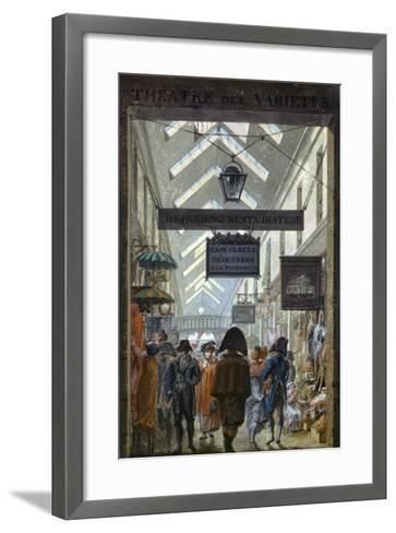 Scene of Everyday Life in Paris, 1810--Framed Art Print