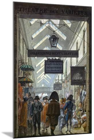 Scene of Everyday Life in Paris, 1810--Mounted Giclee Print