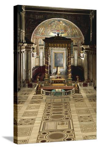 Interior and Main Altar, Basilica of Santa Maria Maggiore, Rome, Italy--Stretched Canvas Print