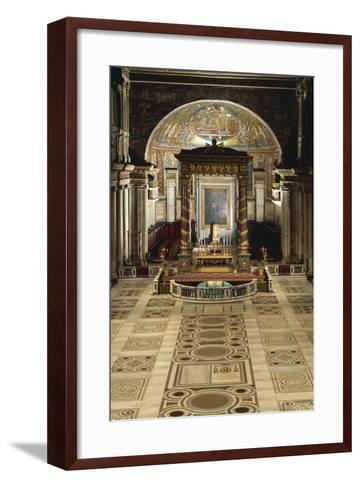Interior and Main Altar, Basilica of Santa Maria Maggiore, Rome, Italy--Framed Art Print