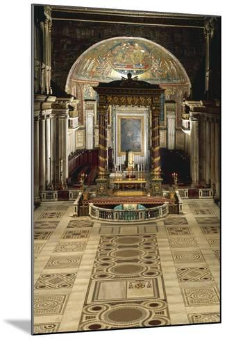 Interior and Main Altar, Basilica of Santa Maria Maggiore, Rome, Italy--Mounted Giclee Print