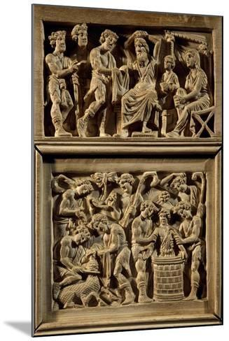 Chair of Bishop Maximian, Inlaid Wood and Ivory Paleochristian Sculpture, from Ravenna, Italy--Mounted Giclee Print