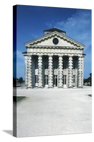 France, Franche-Comte, Arc-Et-Senans, Directors Pavilion at Royal Saltworks--Stretched Canvas Print