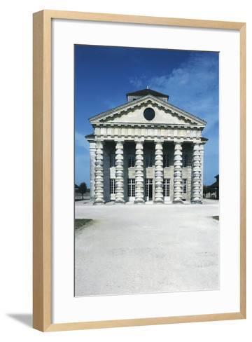 France, Franche-Comte, Arc-Et-Senans, Directors Pavilion at Royal Saltworks--Framed Art Print