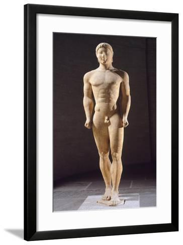 Kouros of Monaco Ca 530-540 BC, Paros Marble Sculpture from Attica--Framed Art Print