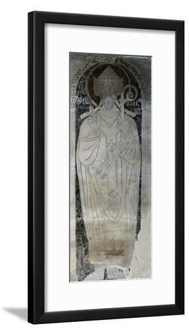 Image of San Ciriaco, Detail from Pluteus in Cathedral of San Ciriaco, Ancona, Italy--Framed Art Print