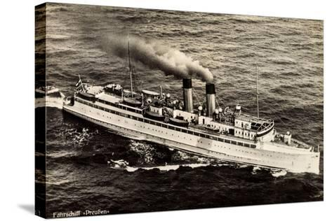 Fährschiff Preußen Der Stettiner Dampfer Comp--Stretched Canvas Print