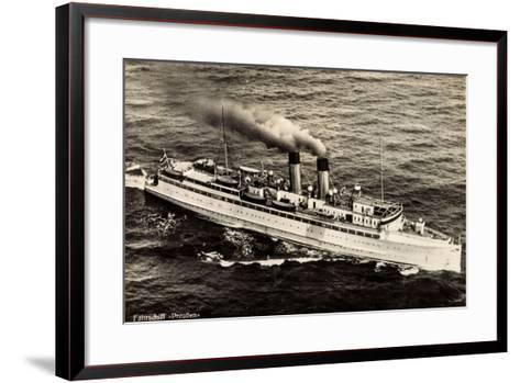 Fährschiff Preußen Der Stettiner Dampfer Comp--Framed Art Print