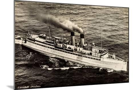 Fährschiff Preußen Der Stettiner Dampfer Comp--Mounted Giclee Print