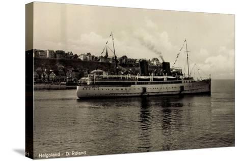 Schiff Roland Bremer Vor Helgoland in See--Stretched Canvas Print