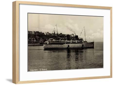 Schiff Roland Bremer Vor Helgoland in See--Framed Art Print
