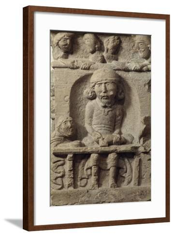 A Luthier, Sculptural Decoration of the Corner Pillar of a House in the 12th Century Cluny, France--Framed Art Print