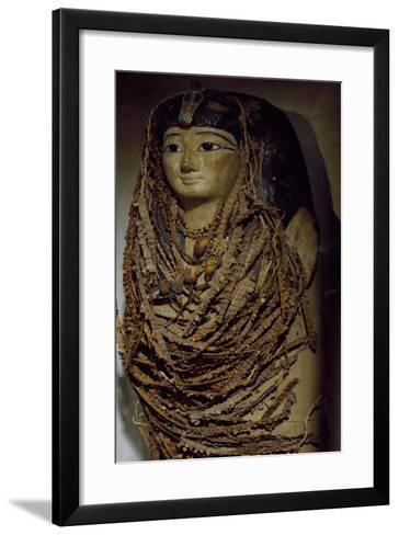 Sarcophagus of Amenhotep I, Wood, from Valley of Kings, Detail--Framed Art Print