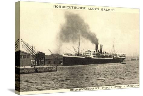 Yokohama Japan, Lloyd Bremen, Dampfer Prinz Ludwig--Stretched Canvas Print