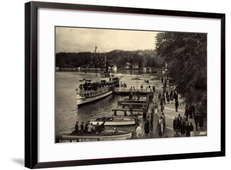 Velden Wörthersee Kärnten, Promenade, Dampfer Helios--Framed Art Print