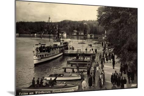 Velden Wörthersee Kärnten, Promenade, Dampfer Helios--Mounted Giclee Print