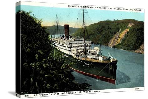 Cunard Line, S.S. Franconia,Dampfschiff,Panama Kanal--Stretched Canvas Print