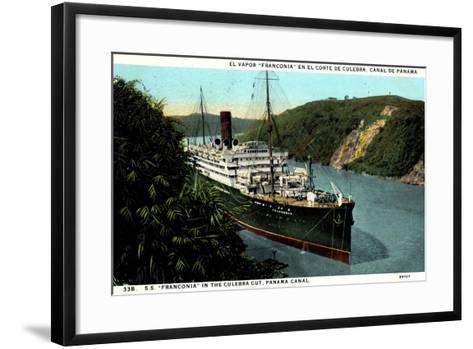 Cunard Line, S.S. Franconia,Dampfschiff,Panama Kanal--Framed Art Print