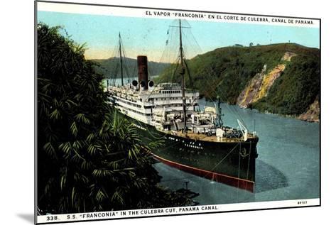 Cunard Line, S.S. Franconia,Dampfschiff,Panama Kanal--Mounted Giclee Print