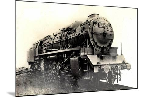 Locomotive Francaise, Alsace, Lorraine, G No 13--Mounted Giclee Print